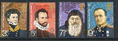 GB 1972 British polar Explorers used set stamps