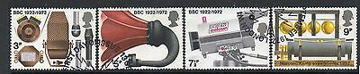 GB 1972 Broadcasting anniversaries Fine used set stamps