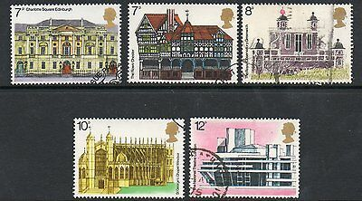 GB 1975 European Architectural Heritage Year fine used set of stamps