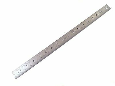 "18"" Stainless Steel Machinist Engineer 4R Ruler/Rule Scale 1/8, 1/16, 1/32, 1/64"