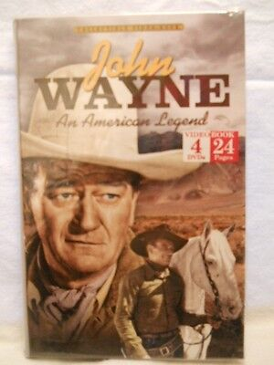 John Wayne: An American Legend (DVD, 2012, 4-Disc Set, Videobook) NEW