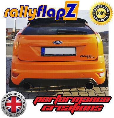 Mud Flaps to fit FORD FOCUS Mk2 ST225 Qty4 RallyflapZ Mudflaps Black Kaylan PU