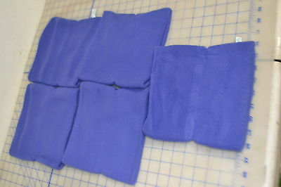 bulk lot 5 purple fleece acrylic heavy USA made youth outdoor neck warmer kids
