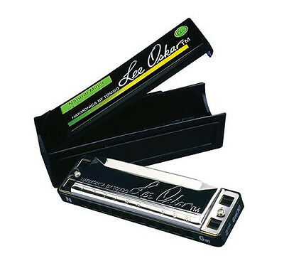 LEE OSKAR NATURAL MINOR 1910N KEY OF Dbm 10 HOLE HARMONICA+FREE HOHNER MINI 38-C