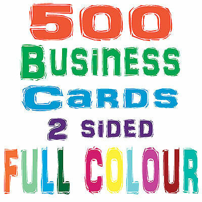 500 Business Cards, 2 sided, + FREE DESIGN