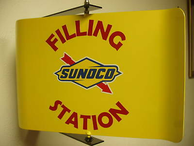 Sunoco Gas 50S Era Spinning Wall Mount Advertising Sign