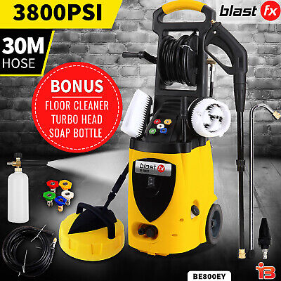 BLAST FX 3800 PSI High Pressure Washer Water Cleaner Electric Pump Hose Gurney