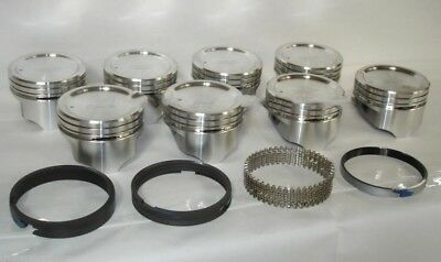 30 Sealed Power//Federal Mogul Chevy 396 Cast Piston+MOLY Ring Kit 1965-69