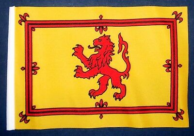 "SCOTLAND LION BUDGET FLAG small 9""x6"" GREAT FOR CRAFTS Scottish Glasgow Ayr"