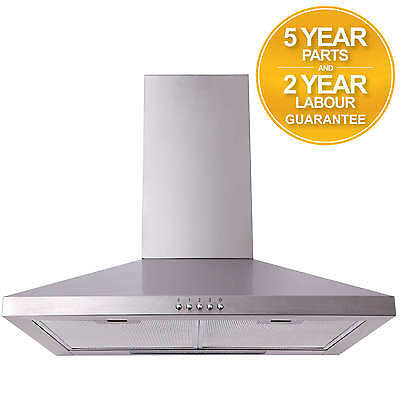 SIA CHL61SS 60cm Stainless Steel Chimney Cooker Hood Extractor Fan