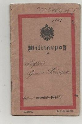 militairy pass german soldier 1917 including drivers lincense