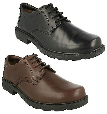 Mens Clarks Leather Formal Casual Everyday Lace Up Shoes Lair Watch & Lair Gate