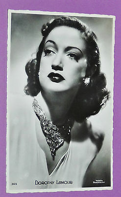 CPA CINEMA CARTE POSTALE N°303 PARAMOUNT 1950's DOROTHY LAMOUR HOLLYWOOD ACTRICE