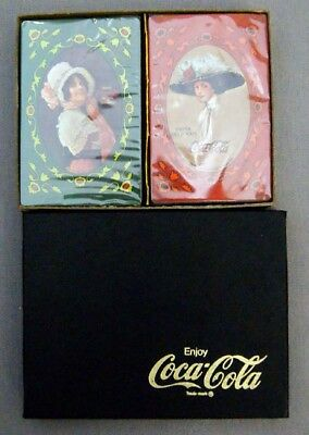 Vintage 1977 Antique Coca Cola Advertisement Playing Card Set