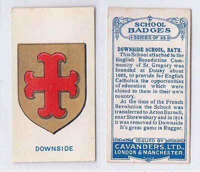 School Badges (Dark Blue Back) - Cavanders 1928 - Downside
