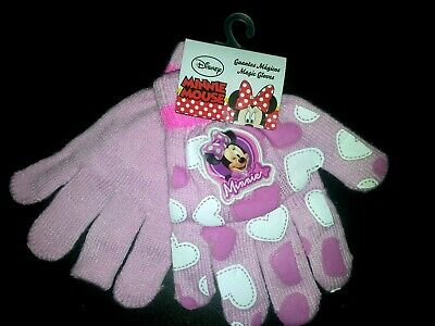 Disney Minnie Mouse Guanti Rosa Pink Gloves Handschuhe Gants