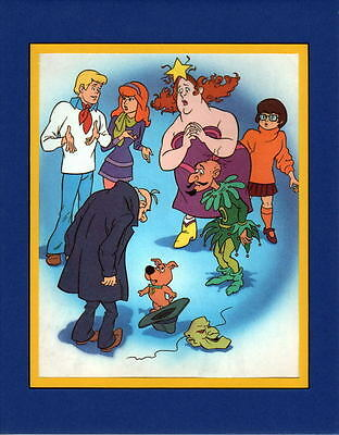 Scooby Doo Gang - SOLVING ANOTHER MYSTERY Professionally Matted PRINT