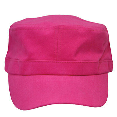 Plain Adult Adjustable Military Cap | Cotton Twill Hat Men Women | Hot Pink