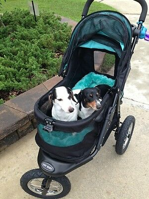 *Pet Gear Stroller Jog Walk Skyline NV No-Zip Weather Cover to 70 lbs PG8450NVS