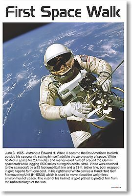 First Space Walk - NEW Classroom Science Poster