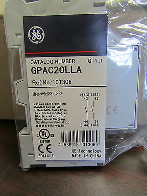 General Electric G E  GPAC20LLA Auxiliary Contact
