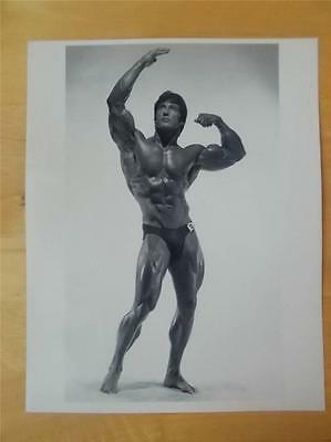 Mr Olympia Bodybuilder FRANK ZANE muscle bodybuilding 8 X 10 BICEP FLEX  photo