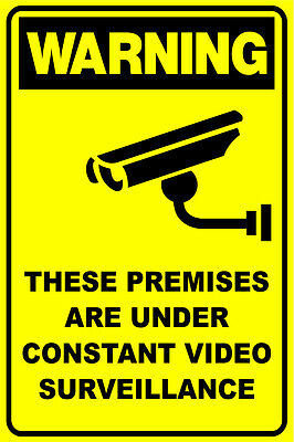 (5 X Signs) Cctv Security Camera Video Surveillance Sign 300 X 225Mm