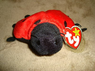 TY Beanie Original Baby 1993 Plush Lady Bug LUCKY
