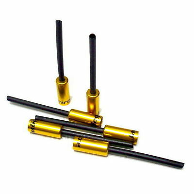 gobike88 Jagwire Nosed Cable Hose Ferrule End Caps, 5mm, 6pieces, Gold, A36