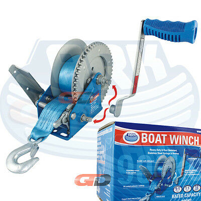 ARK Large Boat Winch 900 KG (Webbing) with 2 Gears: 5:1 / 1:1 SAVAGE - STACER
