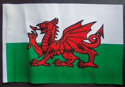 "WALES BUDGET FLAG small 9""x6"" GREAT FOR CRAFTS WELSH DRAGON Swansea Cardiff Rhyl"