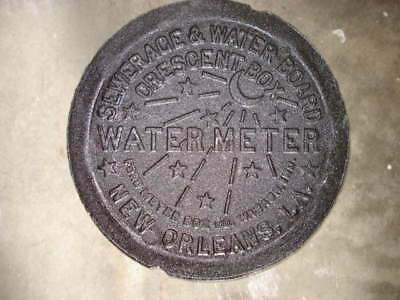New Orleans LA French Quarter REAL NOLA Cast Iron Water Meter Box Cover Genuine
