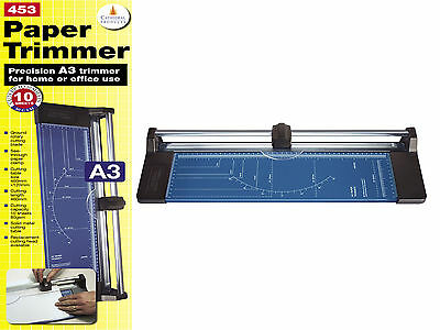 A3 Precision Rotary Paper Trimmer Guillotine A4 A5 Card Photo Cutter Arts Crafts