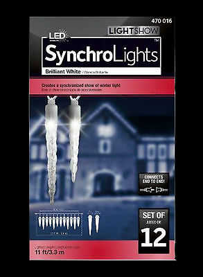 GEMMY LIGHTSHOW / BRILLIANT WHITE LED ICICLES / WATCH OUR LIVE ACTION VIDEO!