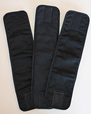 3 Pack Male Dog/Puppy Diaper BLACK Choose Size XS-XL Belly Band/Wrap