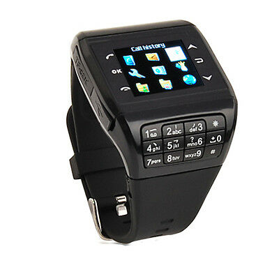 Unlocked GSM Dual SIM Touchscreen Bluetooth Wrist Watch Mobile Cell Phone Kaypad