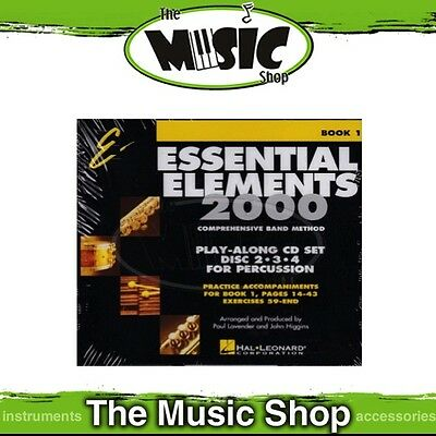 New Essential Elements for Band: Book 1 Play-Along CD Set - Discs 2-4 Percussion