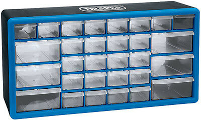 30 Drawer Electronic Component Parts Organiser Cabinet Storage Draw Case (12015)