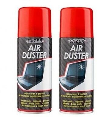 2 x 200ml Compressed Air Duster Cleaner Can Canned Laptop Keyboard Mouse