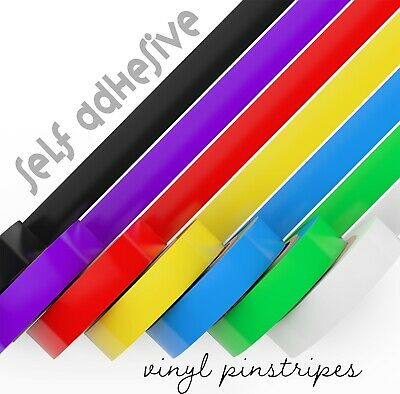 Sticky Coloured Vinyl Pinstripes Coach line Tape Car Motorbike Vehicles 10M