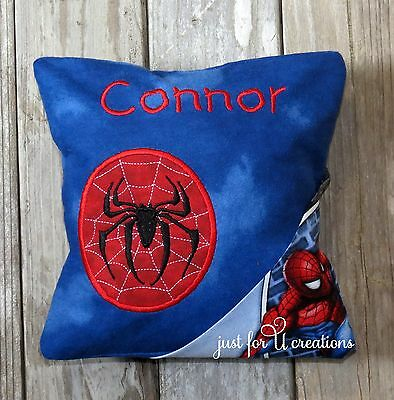 Boy's Personalized Embroidered Spiderman Spider Design Tooth Fairy Pillow