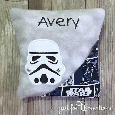 Boy's Personalized Embroidered Stormtrooper Star Wars Design Tooth Fairy Pillow