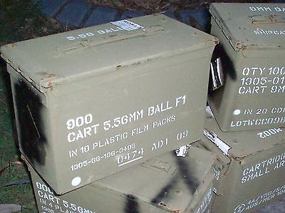 50 Cal Metal Ammo Box - Machine Gun, Ex Australian Army