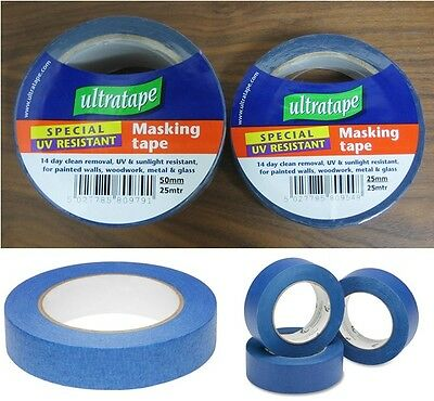 Ultratape - UV Resistant Blue Painters Masking Tape - Various Sizes