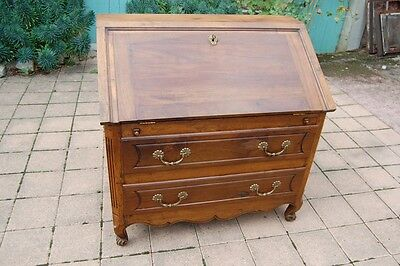 Commode bureau Louis XV en noyer