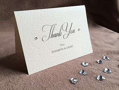 Personalised Handmade Wedding Thank You Cards