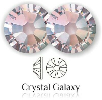 Swarovski Flat Back Crystals AB 2058 No Hot Fix ALL SIZES Platinum Foiled