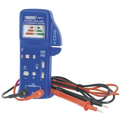 DRAPER BATTERY BULB FUSE AND CONTINUITY TESTER incl FREE DELIVERY