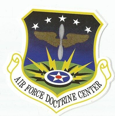 Air Force Doctrine Center Sticker - Outside Application