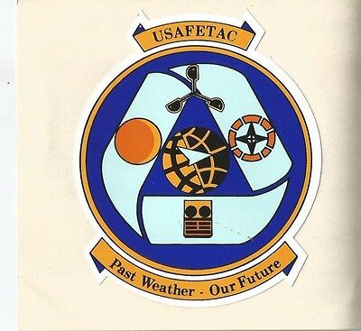"""Air Force - USAFETAC 2""""  Sticker - Outside Application"""